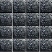 Gạch mosaic Fabric hình vuông đen