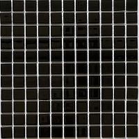 Gạch mosaic thủy tinh màu đen