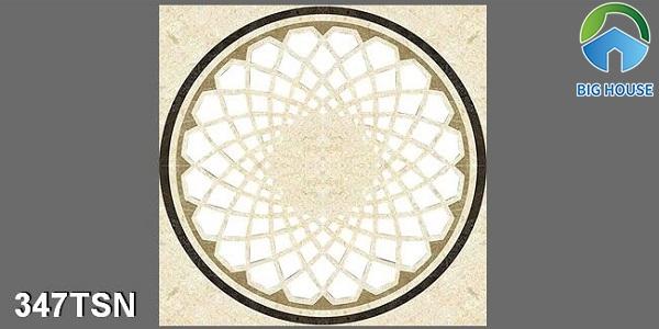 Mẫu gạch thảm phòng thờ 347TSN hình vuông