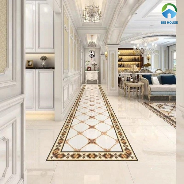 Mẫu gạch thảm lát nền cho không gian hành lang khách sạn