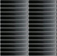 Gạch thẻ mosaic màu đen men mờ