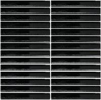 gạch mosaic màu đen dạng thẻ