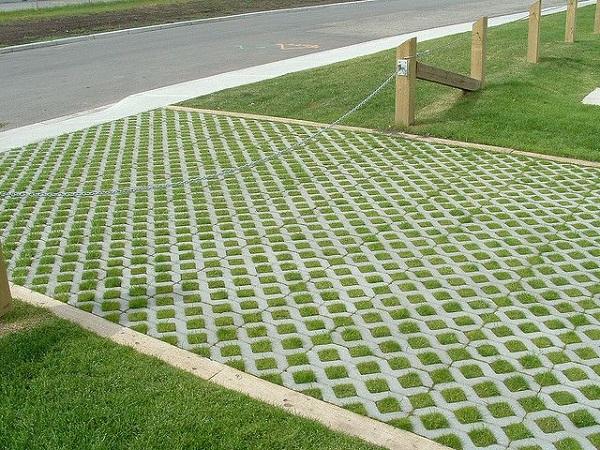 Gạch trồng cỏ giúp tăng thêm tính thẩm mỹ cho không gian