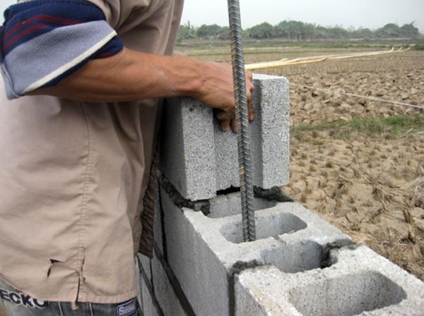 thi công gạch block bê tông