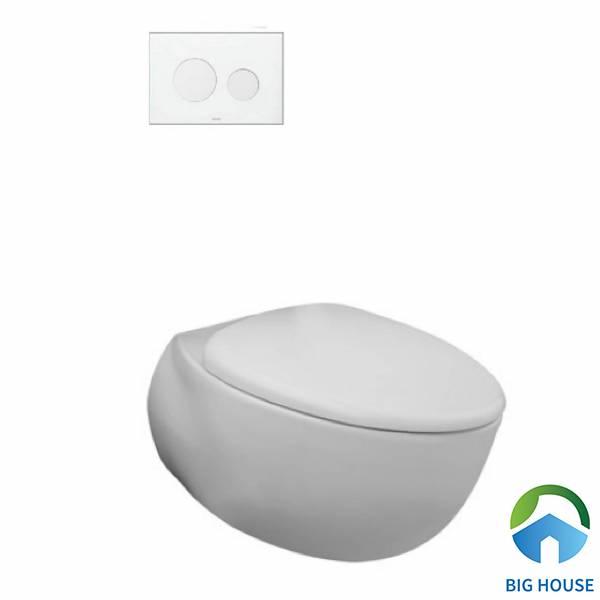 Bồn cầu hình quả trứng Toto CW812JWS sử dụng công nghệ CeFiONtect chống bám bẩn hiệu quả