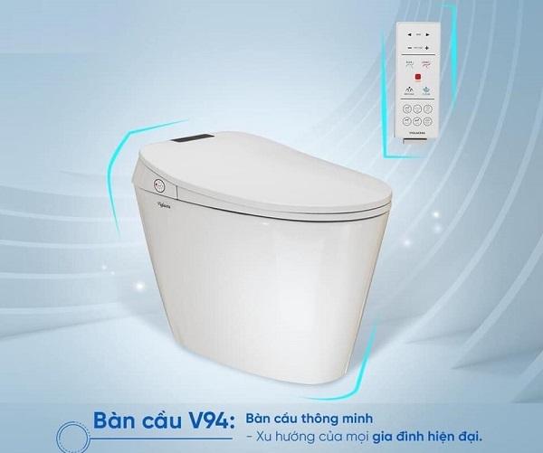 bồn cầu không két nước Viglacera V94 mang thiết kế sang trọng, hiện đại
