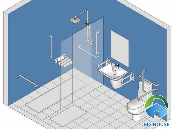 Thiết bị vệ sinh dành cho người cao tuổi