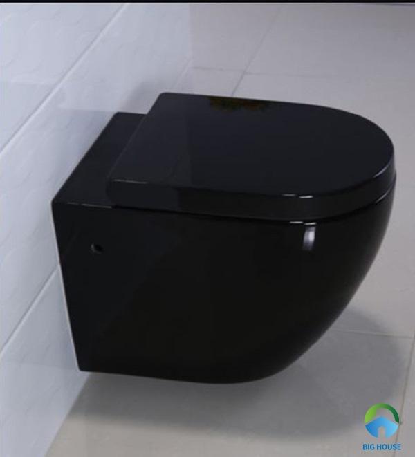thiết bị vệ sinh bồn cầu treo tường màu đen Miken MK-0804B độc đáo