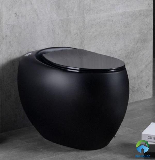 Bồn cầu trứng màu đen Groler GR – B101 nhỏ gọn