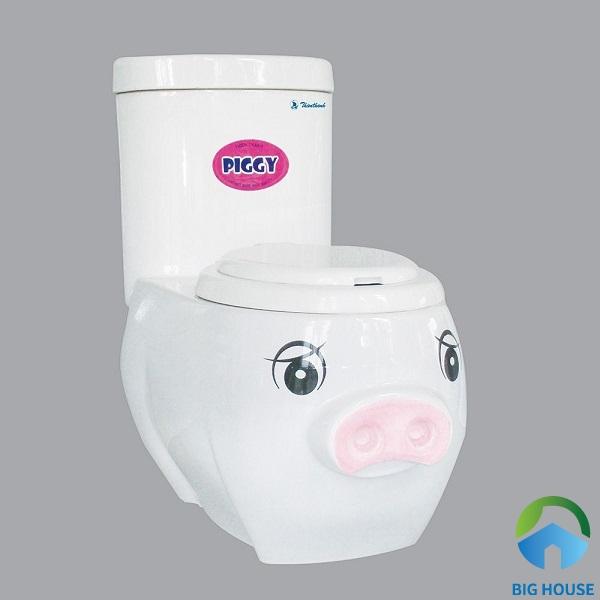 Bồn cầu Thiên Thanh P0217TS2T kiểu dáng hình chú lợn dễ thương