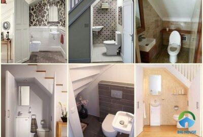 Thiết kế nhà vệ sinh dưới gầm cầu thang đẹp – chuẩn phong thủy