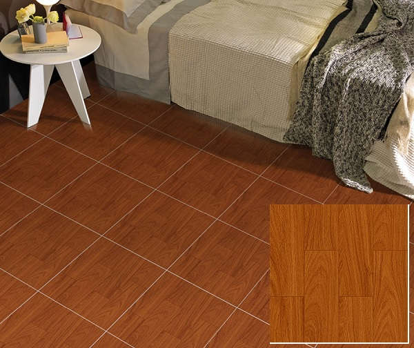 Mẫu gạch giả gỗ Prime 02256 tông màu nâu ấm cúng và nổi bật