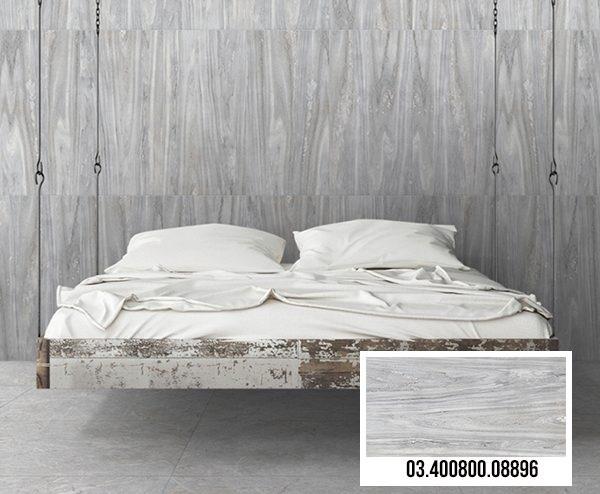 Mẫu gạch giả gỗ phòng ngủ Prime 08896 màu xám hiện đại