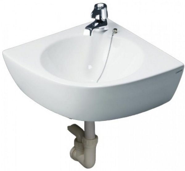 Mẫu chậu rửa mặt treo tường Caesar L2014 cho nhà vệ sinh nhỏ 1m2
