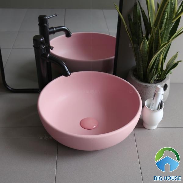 Lavabo màu hồng SU510 kiểu dáng nhã nhặn