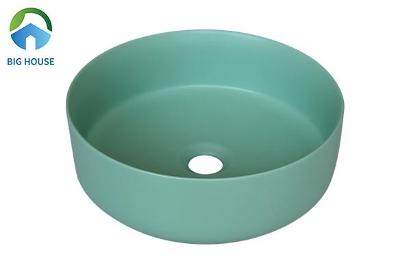 Mẫu chậu rửa màu xanh ngọc SU526