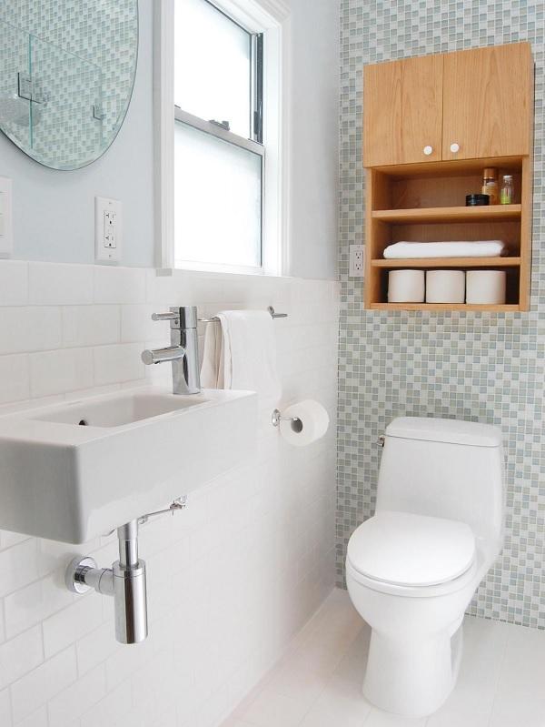 Bố trí cửa sổ cho nhà vệ sinh nhỏ để tạo sự thông thoáng
