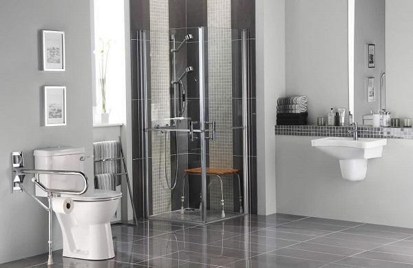 thiết kế nhà vệ sinh cho người cao tuổi đảm bảo diện tích rộng