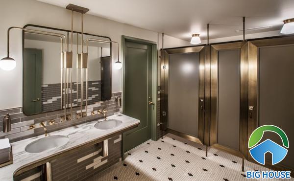 Thiết kế nhà vệ sinh cho quán cafe cần đảm bảo kín đáo và dễ tìm