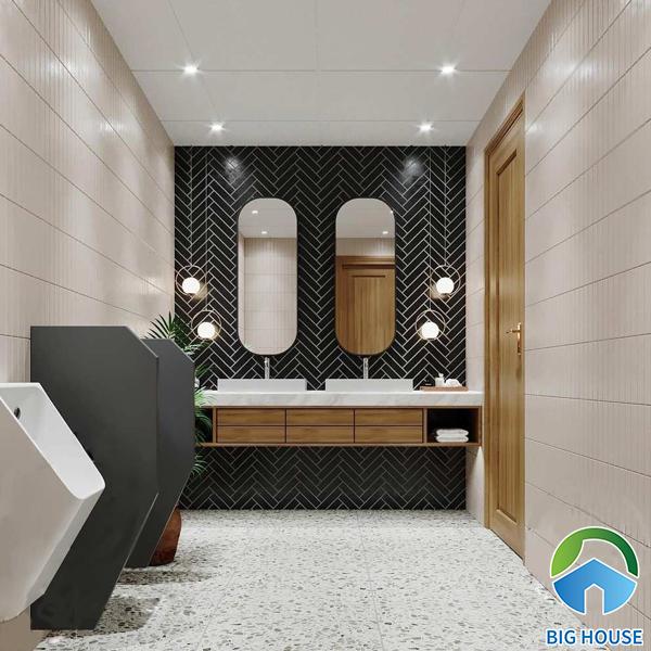 Thiết kế nhà vệ sinh cho quán cafe chuẩn phong thủy