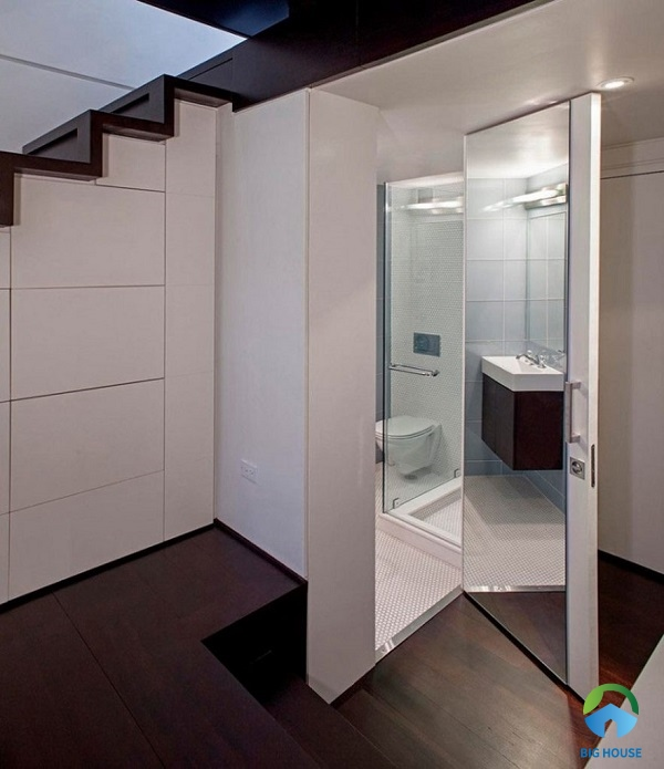 thiết kế nhà vệ sinh dưới gầm cầu thang diện tích nhỏ gọn