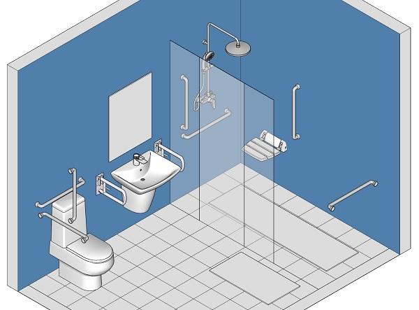 thiết kế nhà vệ sinh cho người già