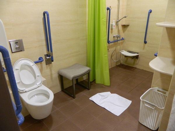 Nên chọn gạch lát nền men matt khi thiết kế nhà vệ sinh cho người già
