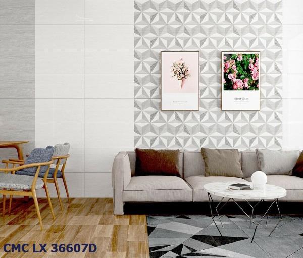 Gạch viền 30x60 ốp tường CMC 36607D họa tiết hình học độc đáo