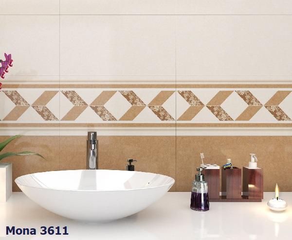 Mẫu gạch ốp MONA 3611 màu nâu trang trí cho không gian thêm nổi bật hơn