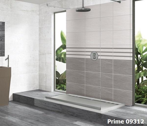 Mẫu gạch viền 7x60 Prime 09312 kết hợp cùng bộ gạch màu xám đậm - nhạt ấn tượng