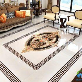 Gạch viền lát nền trang trí phòng khách Đẹp – Cao cấp nhất