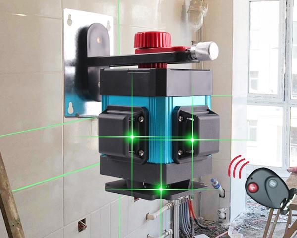 Sử dụng máy cân gạch laser để ốp tường