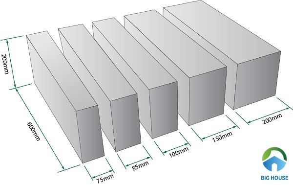 Gạch AAC kích thước bao nhiêu? Cách lựa chọn cho từng hạng mục